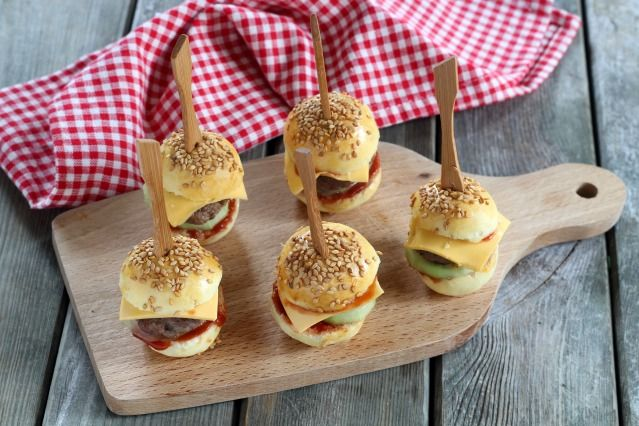 Mini faim = Mini burgers  - Diaporama 750 grammes