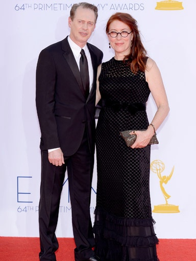 Actor Steve Buscemi and wife, Jo Andres, arrive at the 64th Annual Primetime Emmy Awards at Nokia Theatre L.A. Live on Sept. 23, 2012, in Los Angeles.