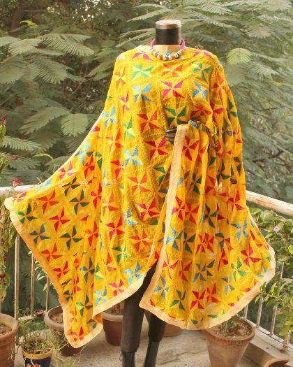 Buy Hand Embroidered Phulkari Dupatta