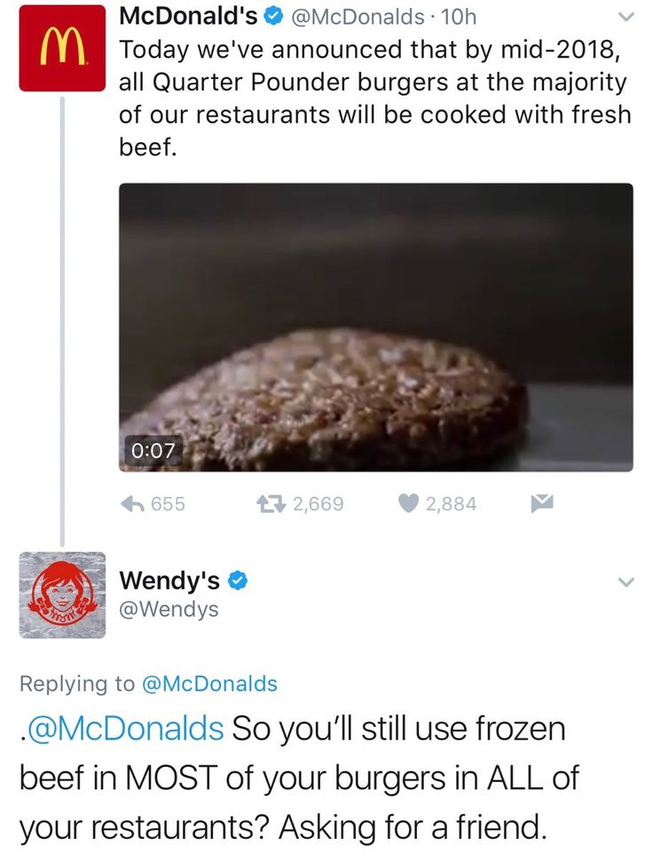 Savage Wendy's Twitter Roasts McDonald's New Claim! - #funny #lol #viralvids #funnypics #EarthPorn more at: http://www.smellifish.com
