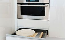 Keep It Compact - Make the most of the space in your kitchen by including innovative storage solutions.