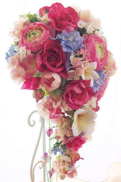 ビーチに映えそうなセミキャスケードブーケ |Wedding Flower・ぽると のブログ