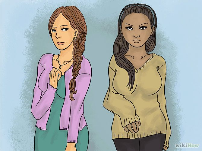 Wear the right top. The blouses and sweaters you wear can go a long way to minimizing your bust. Try these: Wear V-neck sweaters. Worn with a minimizing bra or a plain scoop neck, these can be quite flattering. Cardigans are your best friend. They draw the eyes away, and their long, straight lines minimize your curves.