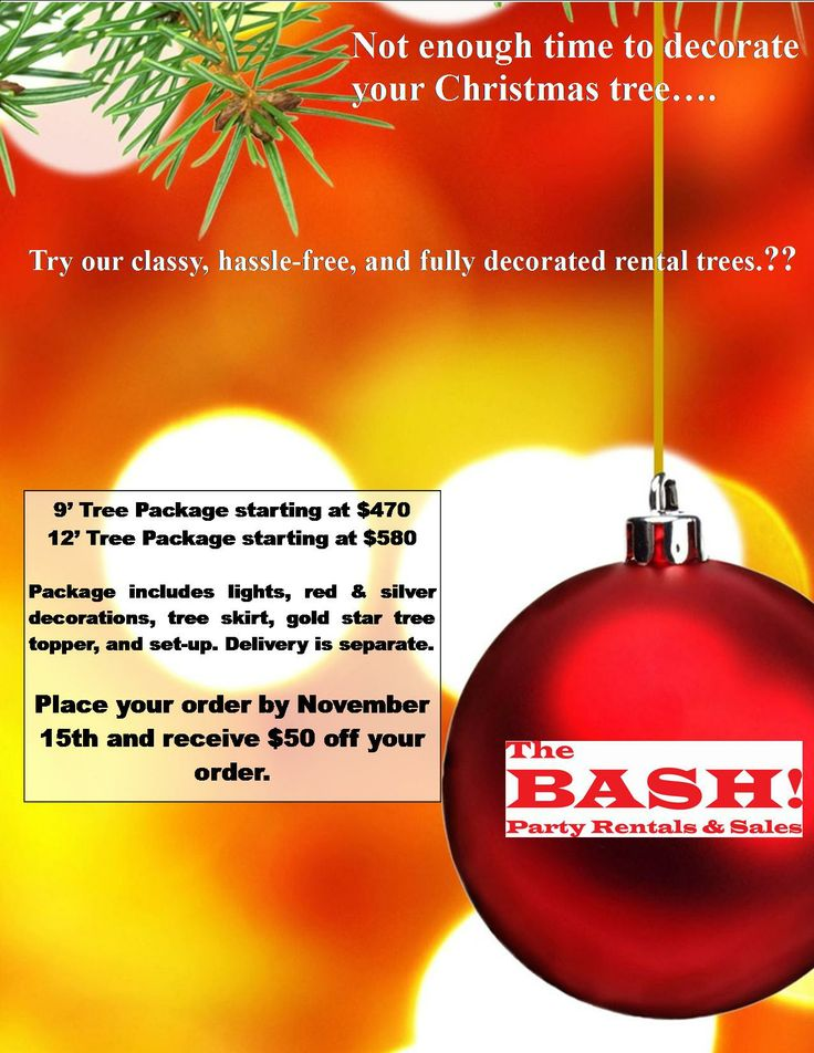 one of our christmas tree rental promo flyers - Christmas Tree Rental