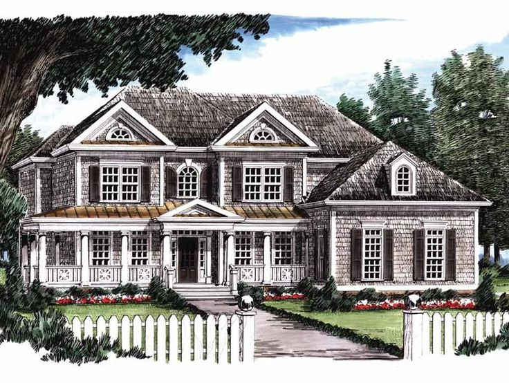 Greek Revival House Plan With 3312 Square Feet And 5 Bedrooms From Dream  Home Source |