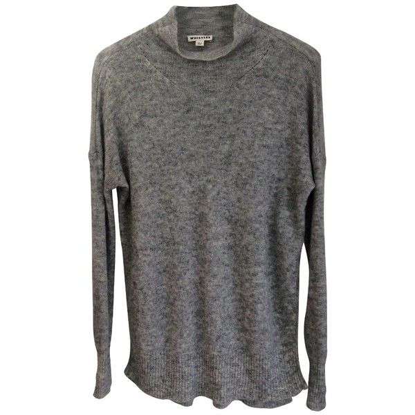 Pre-owned Sweater in gray (145,325 KRW) ❤ liked on Polyvore featuring tops, sweaters, grey, whistles sweater, long gray sweater, mohair sweater, gray top and whistles tops