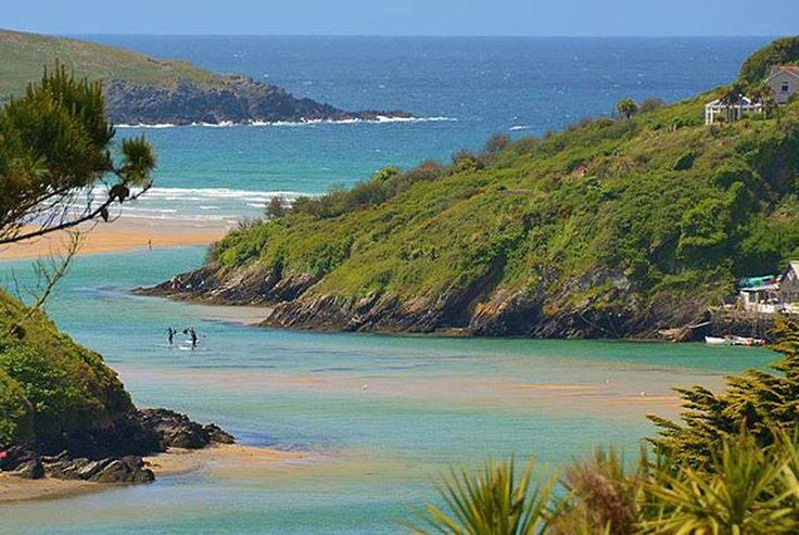 River Gannel and Crantock beach, Newquay, Cornwall