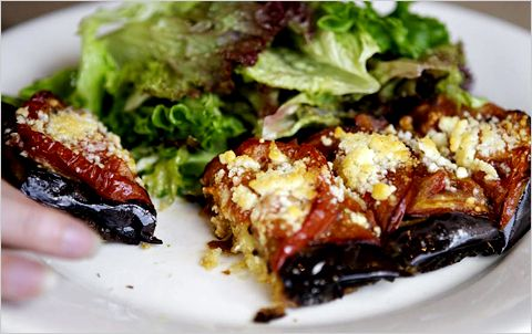 roasted tomato and eggplant tartine #recipe