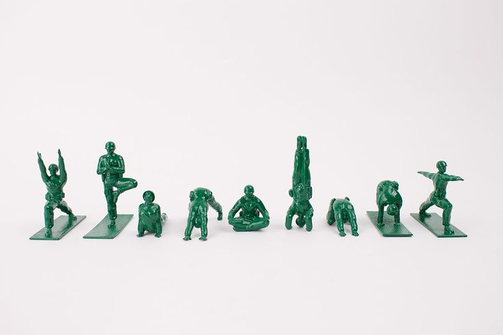 Yoga Joes: Plastic Green Soldiers Practicing Yoga