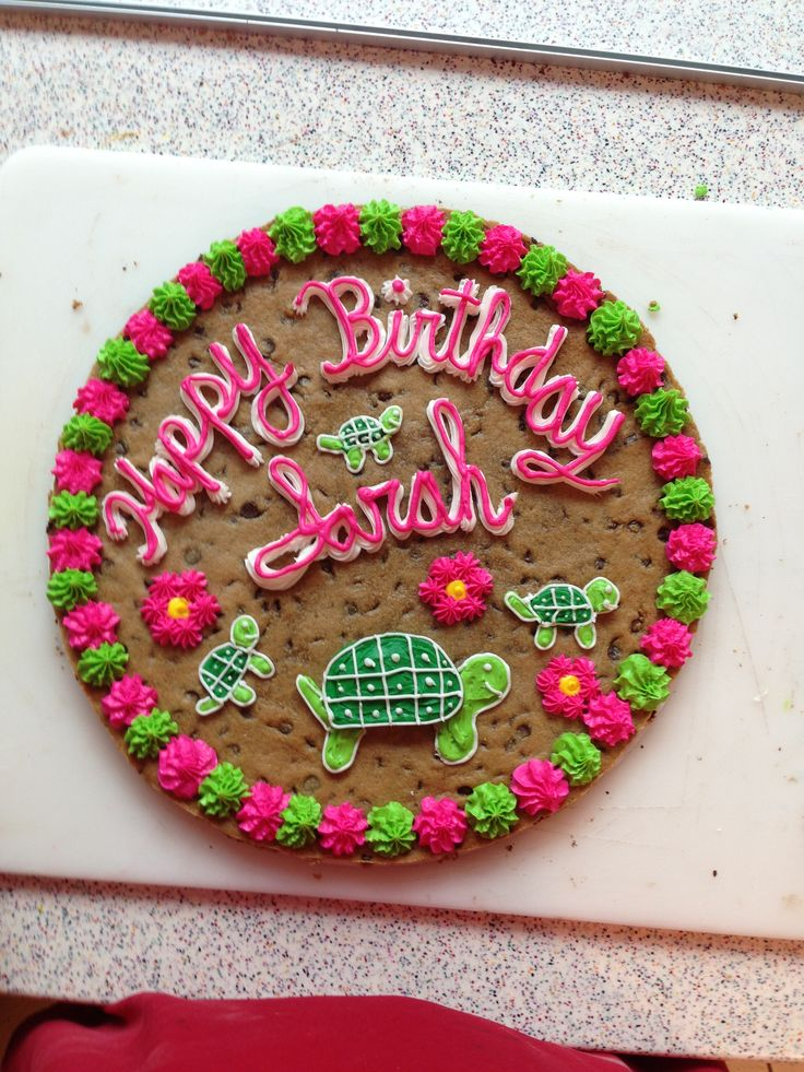 Happy Birthday Sarah Cookie Cakes I Made Pinterest Cake