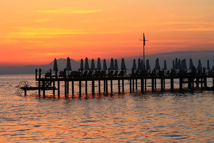 Sunset at the pier.