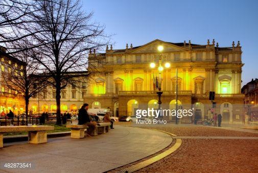 Stock Photo : Milan, Piazza della Scala and Teatro alla Scala