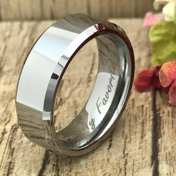 8mm Cobalt Chrome Ring Personalized Engrave Cobalt Wedding Etsy Cobalt Chrome Ring Mens Wedding Bands Cobalt Wedding