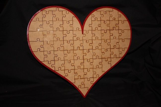 Puzzle Piece Heart Guest Book Wedding