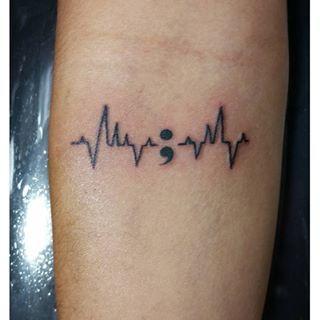 semicolon tattoo be happy - Google Search