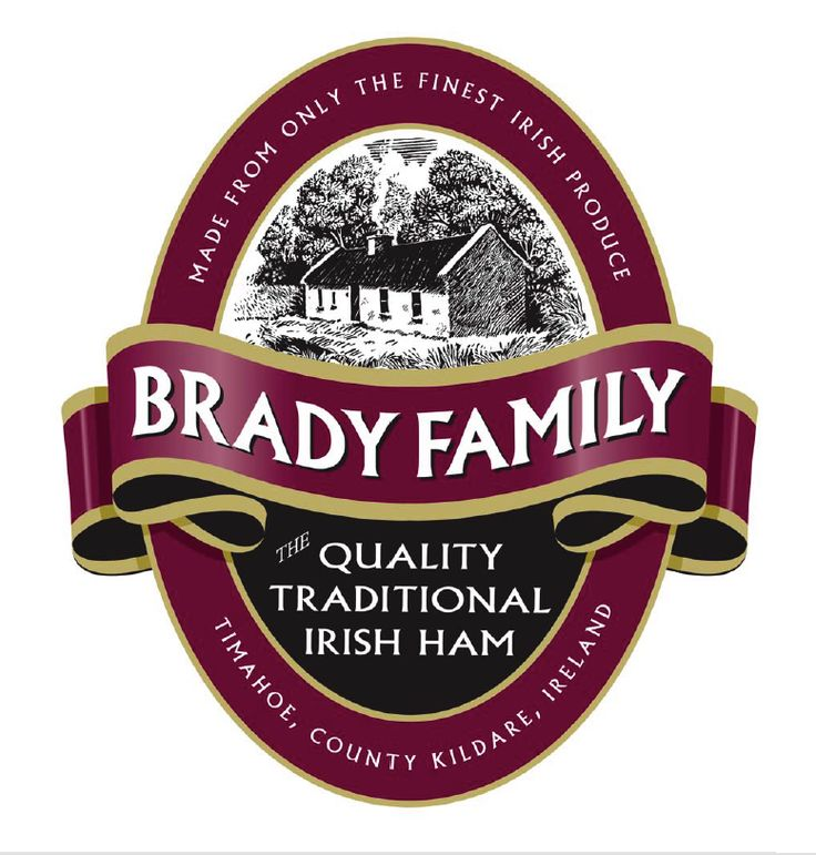 Original Brand Identity and Logo for the Kildare based Brady Family business, producers of traditional Irish hams.. I ham what I ham!