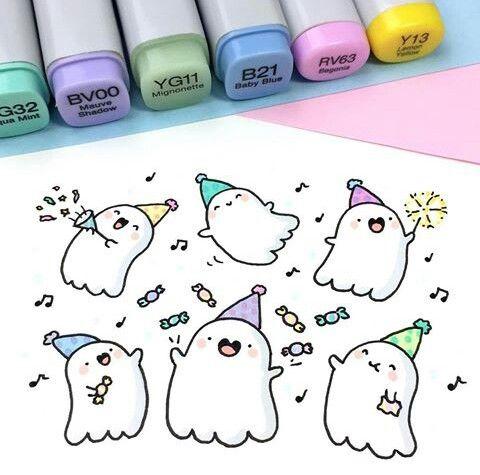 cute ghost doodle