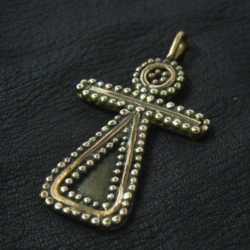 Bronze Phoenician Tanit goddess pendant. Reenactment. Pagan. Amulet. SCA.