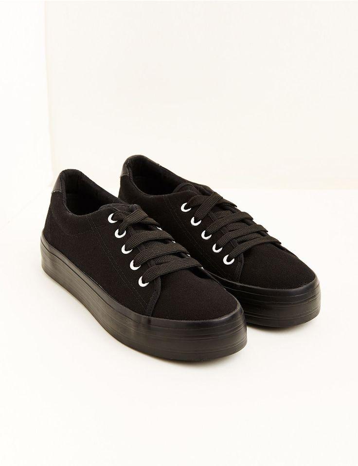 baskets compensées noires - Jennyfer e-shop