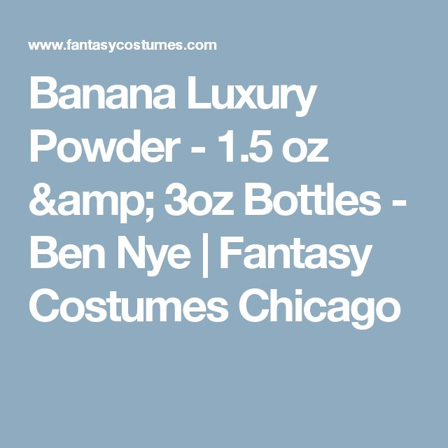 Banana Luxury Powder - 1.5 oz & 3oz Bottles - Ben Nye | Fantasy Costumes Chicago