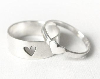 lin heart ring // promise rings // promise ring set // by ANILANI