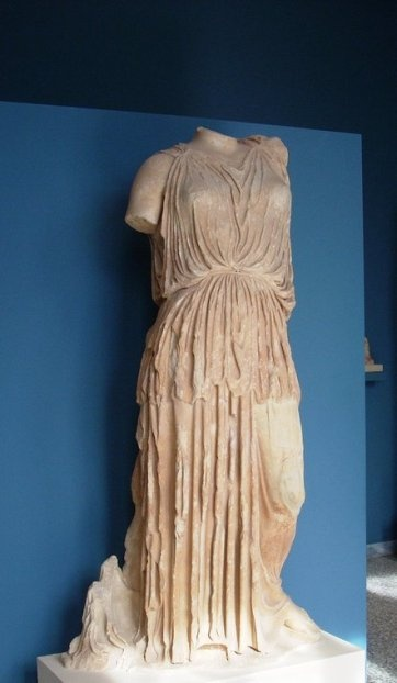 Statue of Demeter - Pentelic marble, height 1.80 m, 420 BC. Archaeological Museum of Eleusis / by Athang1504 via Flickr
