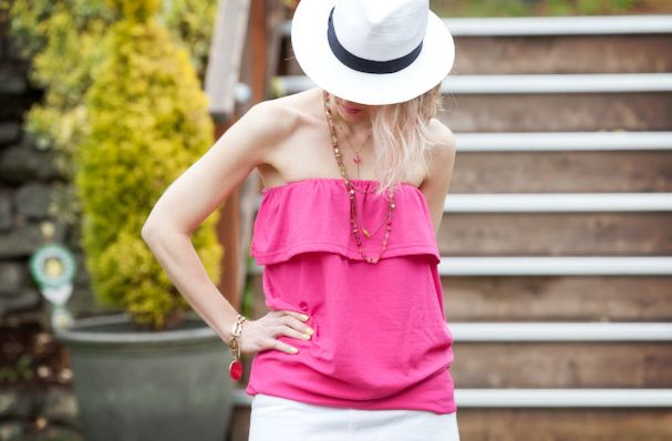 T-Shirt revamp projects abound, and summer is a perfect time to tackle them. This t-shirt-to-tube-top DIY from Cathy of Trinkets in Bloom is an easy and quick way to transform a boxy t-shirt in to a cute, ruffled tube top that's perfect for hot summer days. More: How-To: Recycled T-Shirt …