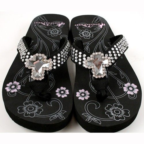 Cross Concho and Rhinestone Strap Flip Flop #wholesale #flip flops only $12.00 at shopforbags.com #HeadToToe #FlipFlops #KatydidForLife #Bling #New #Funky #SummerTime