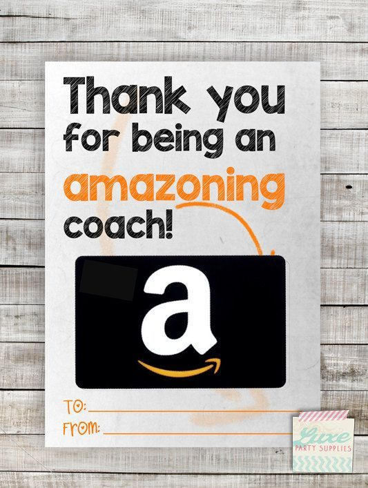 instant download printable amazon coach gift card holder amazoning teacher appreciation coach. Black Bedroom Furniture Sets. Home Design Ideas