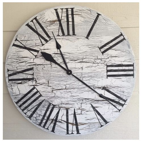 """Essex Hand Crafted Wood Products Oversized 28"""" Wall Hanging Clock"""