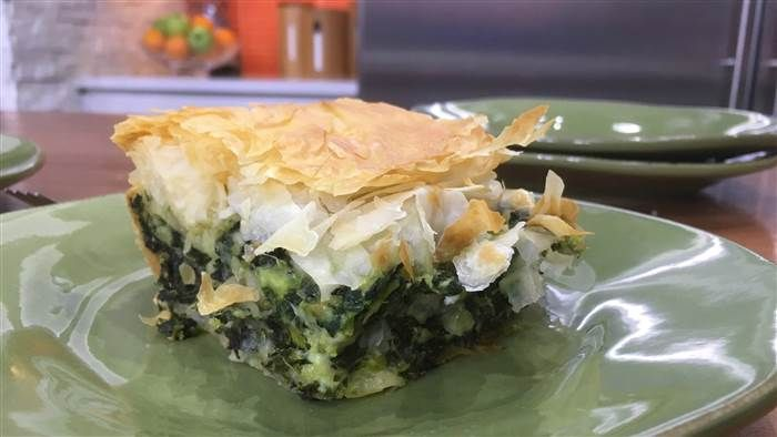Filled with spinach, feta and ricotta, this delicious Greek spinach pie is perfect any time of the day.