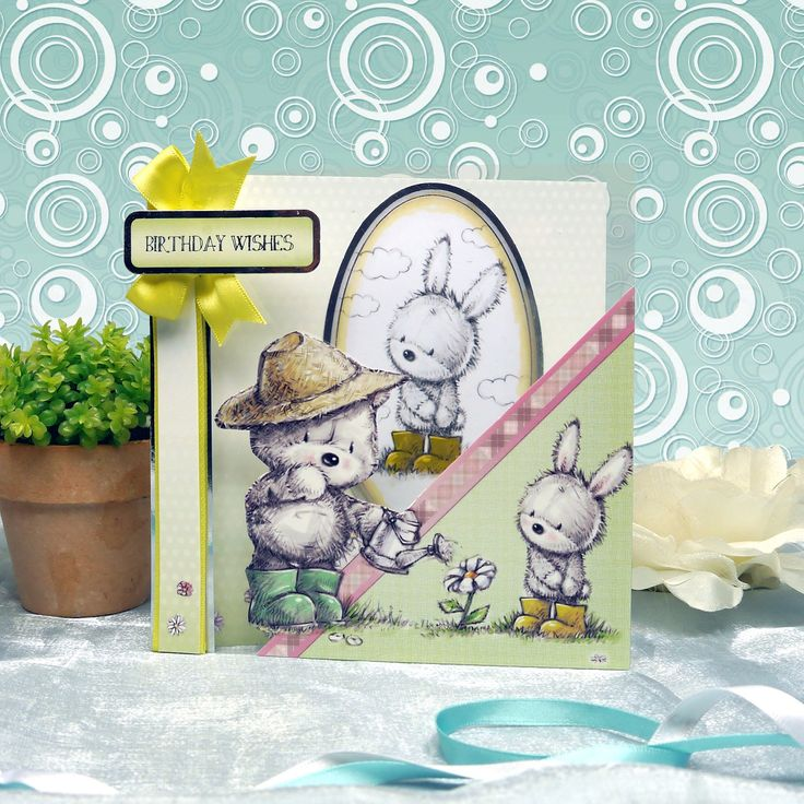 Card made using Smudge & Mitten Luxury Card Collection by Hunkydory Crafts