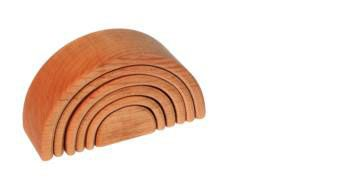 Natural Wood Tunnel. Set contains 6 wooden pieces. Perfect for creative, open ended play.