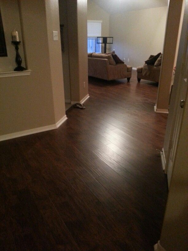 Flooring Roth Allen Handscraped Toasted Chestnut Laminate From Lowes IdeasDiy FlooringLiving Room