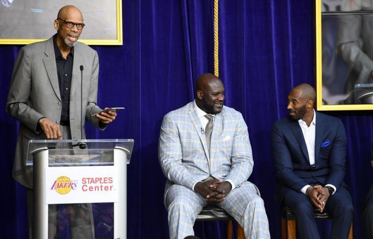 Shaq and Kobe roasted by Kareem Abdul-Jabbar at O'Neal's statue unveiling - The Washington Post