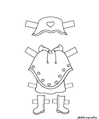Muñecas para recortar: Muñeca Rosie para recortar y pintar | Muñecas ...