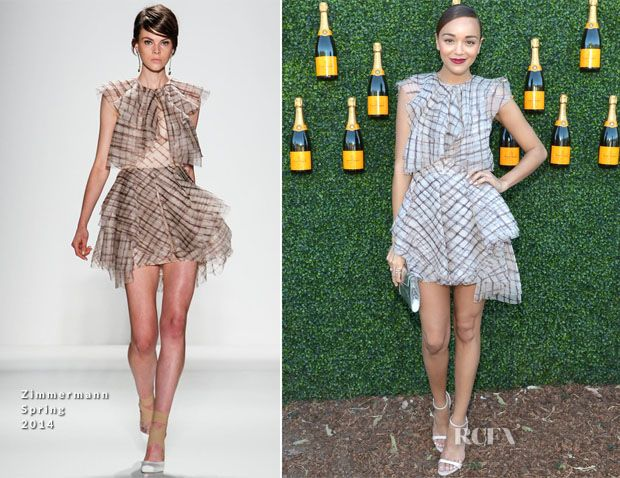 Ashley Madekwe In Zimmermann – 2013 Veuve Clicquot Polo Classic