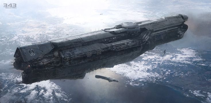 You know I'm a sucker for space ships and the new Halo game has some awesome art on just that subject.