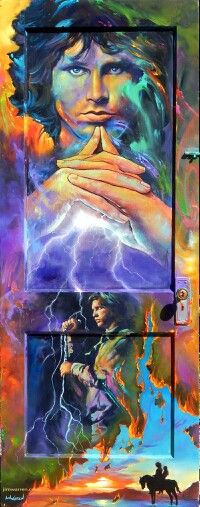 """Painted on a door from jim morrison childhood home...this is titled """"the storm"""""""