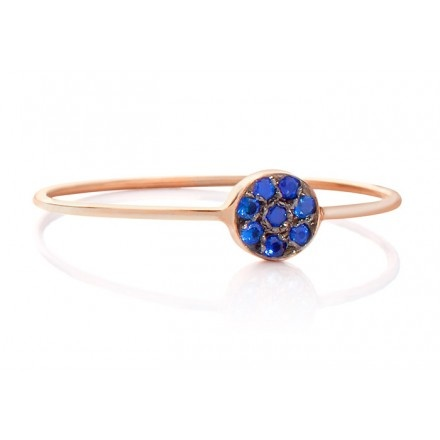 JADA Mira ring with blue sapphires
