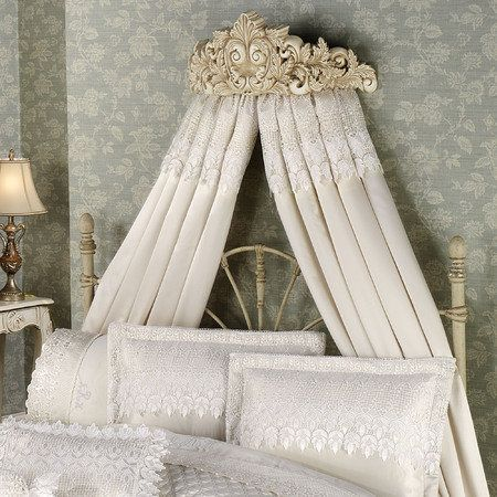Trousseau Lace Canopy Curtain Pair