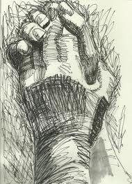Pen drawing of hands