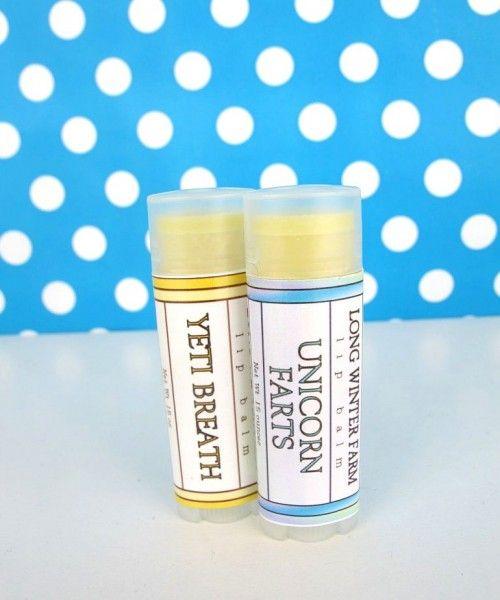 Unicorn fart & Yeti breath lip balm set