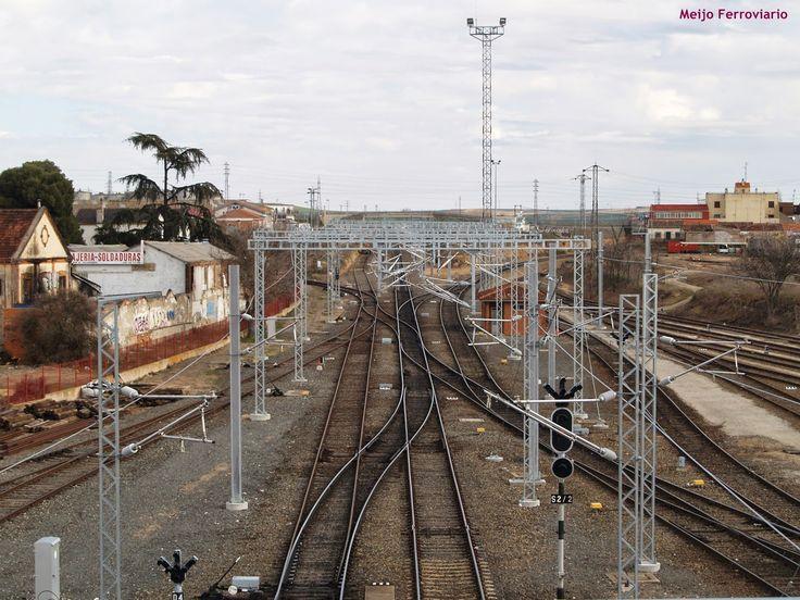 Meijo Ferroviario, el ferrocarril en Salamanca y el lejano oeste español: Gran avance de los trabajos de electrificación en ...