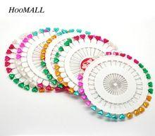 Hoomall Marka 5 Przypadki (150 sztuk) Serce Głowy Craft Szycia Szpilki Igły Do Szycia Haft Mieszane Kolor 5.5 cm długi(China (Mainland))