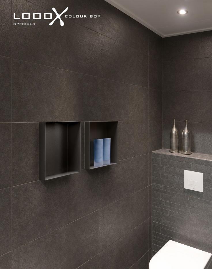 Looox colour box inbouw nis van gemoffeld staal badkamer pinterest dozen en kleur - Badkamer in lengte ...