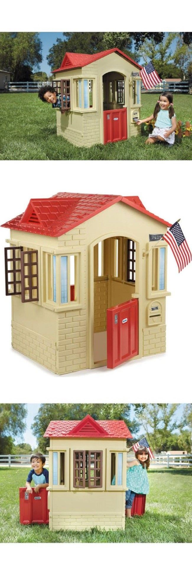 Permanent Playhouses 145995: Playhouse Outdoor Indoor Little Tikes Kids Outside Cottage Toddler Childrens New -> BUY IT NOW ONLY: $109.57 on eBay!