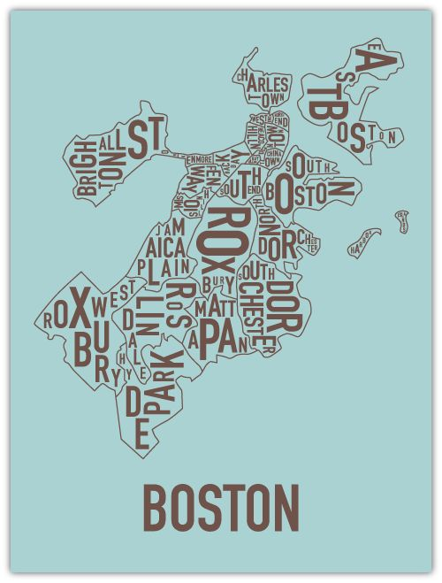 boston! I have this Orr Poster hanging in my hallway, right next to my Gainesville map