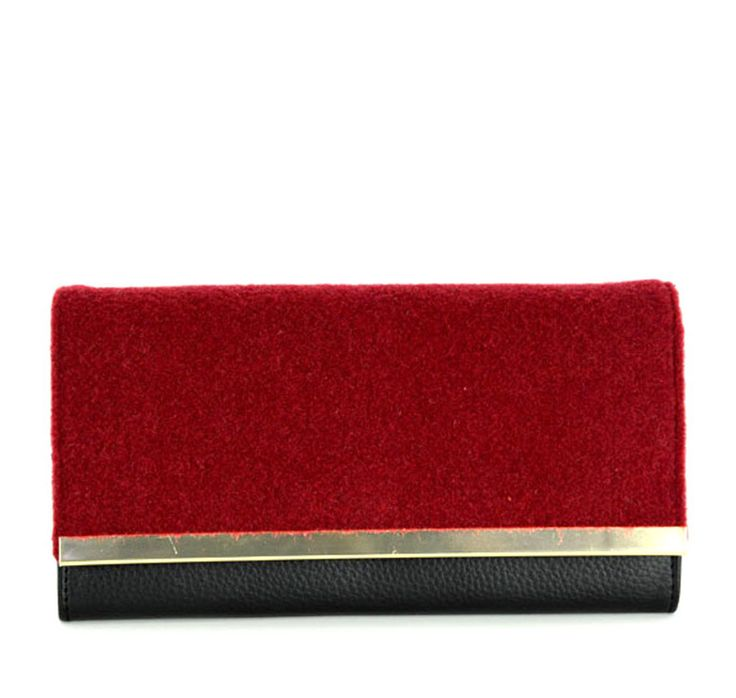 Red Plush PU Women Purse