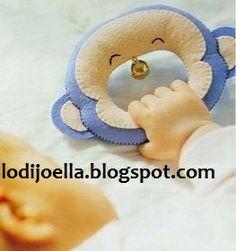 Manualidades en fieltro para bebes :lodijoella